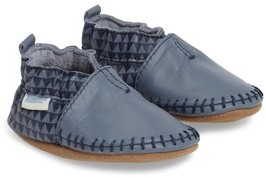 Robeez Infant Boy's 'Classic Moccasin' Crib Shoe