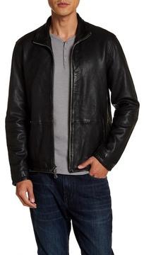 John Varvatos Zip Front Leather Jacket