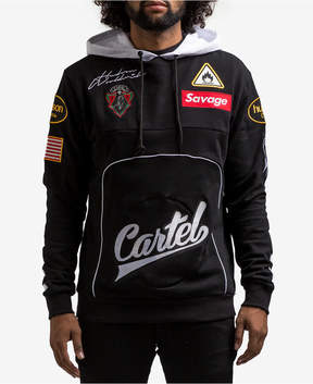 Hudson Nyc Men's Cartel Embroidered Patch Race Hoodie