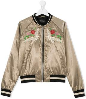 Diesel TEEN embroidered bomber jacket