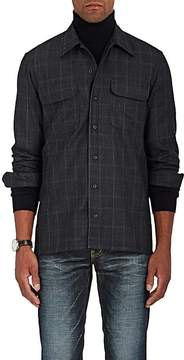 Ralph Lauren Purple Label Men's Plaid Wool-Blend Shirt