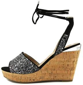 GUESS Womens Edinna Fabric Open Toe Casual Platform Sandals