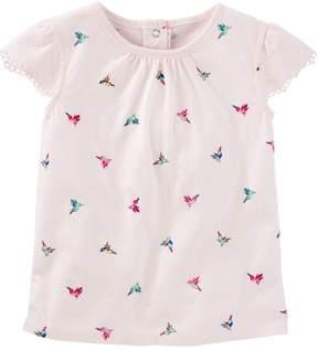 Osh Kosh Toddler Girl Hummingbird Printed Short Sleeve Tee