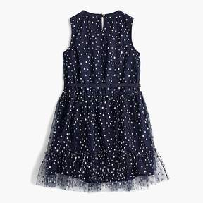 J.Crew Girls' tulle dress in star print