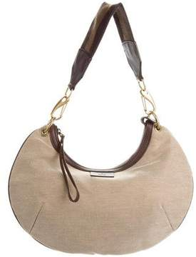 Gucci Leather-Trimmed Canvas Shoulder Bag - BROWN - STYLE