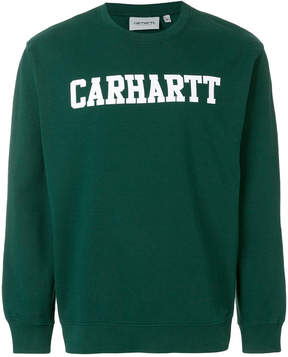 Carhartt logo long-sleeve sweatshirt
