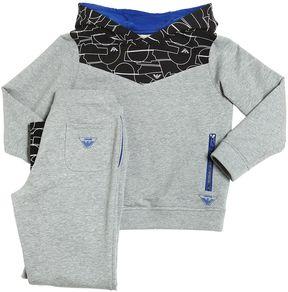 Armani Junior Geometric Cotton Sweatshirt & Sweatpants