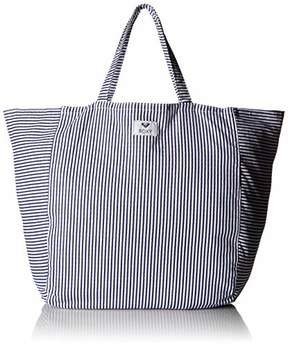 Roxy Time is Now Striped Canvas Tote Bag
