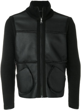 Daniele Alessandrini ribbed panelled jacket