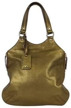 Saint Laurent Gold Leather Tribute Handbag* - GOLD - STYLE