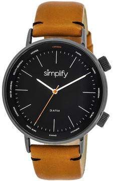 Simplify The 3300 Collection SIM3307 Black Analog Watch
