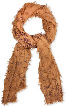 Patricia Nash Gisella Map Scarf with Frayed Detail