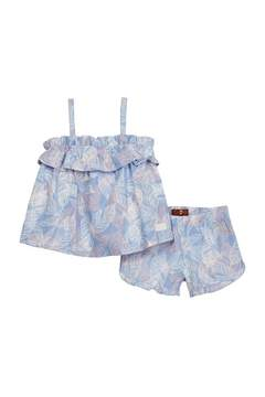 7 For All Mankind Matching Top & Shorts Set (Baby Girls)
