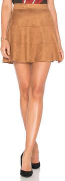 David Lerner Waverly Suede Skirt