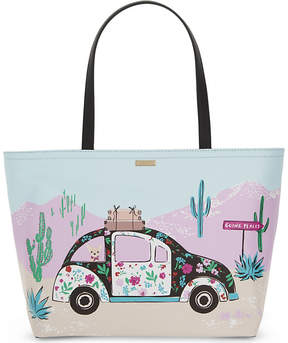Kate Spade Scenic Route Car Francis canvas tote - MULTI - STYLE
