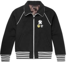 Marc Jacobs Stripe-Trimmed Wool Bomber Jacket