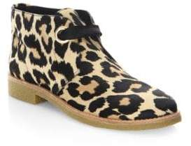 Kate Spade Barrow Leopard-Print Calf Hair Booties