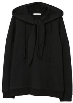 MANGO Knotted cotton-blend sweatshirt