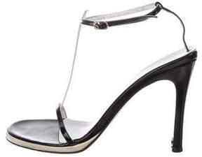 Gucci Patent Leather T-Strap Sandals