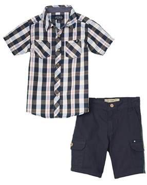 Lucky Brand Boys' 2pc Shirt And Short Set.