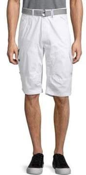 ProjekRaw Belted Cotton Shorts