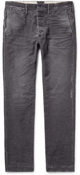 Co Fabric-Brand & Meron Slim-Fit Distressed Cotton-Blend Corduroy Trousers