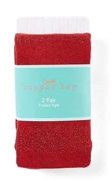 Copper Key 2-Pack Striped Lurex Tights