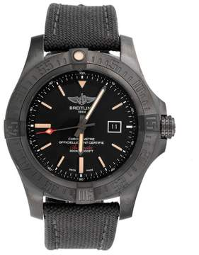 Breitling Avenger V1731010/BD12 Black Titanium Canvas Military Strap Automatic 48mm Men
