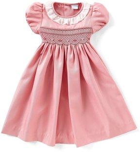 Edgehill Collection Little Girls 2T-4T Ruffle-Collar Smocked Dress