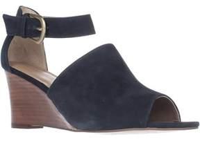 Adrienne Vittadini Footwear Ranta Wadge Sandals, Navy.