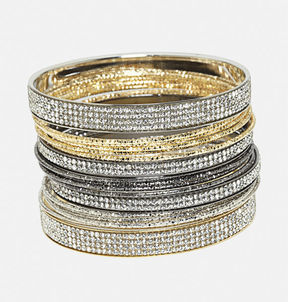 Avenue Sparkle Bangle Set