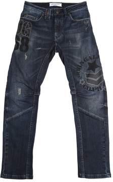 John Galliano Printed Stretch Denim Jeans