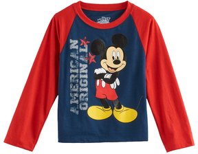 Disney Disney's Mickey Mouse Toddler Boy American Original Raglan Tee