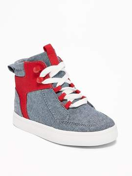 Old Navy Chambray High-Tops for Toddler Boys