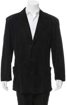 Ralph Lauren Purple Label Suede Three-Button Blazer