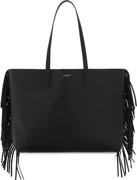 Saint Laurent Large fringed leather tote - BLACK - STYLE