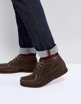 Eastland Seneca Suede Boots In Dark Olive