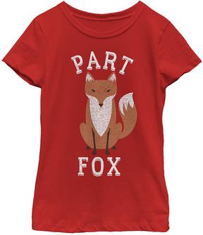 Fifth Sun Red 'Part Fox' Crewneck Tee - Girls