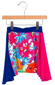 Junior Gaultier Girls' Flared Printed Skirt