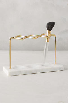 Anthropologie Brass Makeup Brush Holder