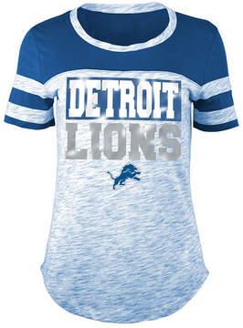 5th & Ocean Women's Detroit Lions Space Dye Foil T-Shirt