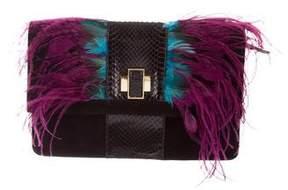 Kotur Feather Clutch Bag