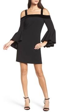 Chelsea28 Women's Bell Sleeve Cold Shoulder Shift Dress