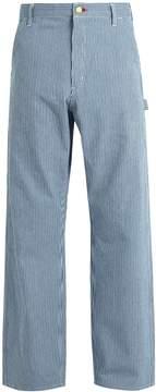 Junya Watanabe X Carhartt striped wide-leg cotton trousers