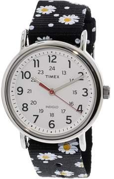 Timex Women's Weekender TW2R24100 Silver Nylon Analog Quartz Fashion Watch