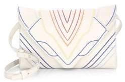 Elena Ghisellini Medium Felina Rainbow Stitch Leather Crossbody Bag