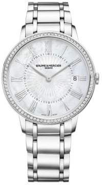 Baume & Mercier Classima 10227 Diamond, Mother-Of-Pearl & Stainless Steel Bracelet Watch