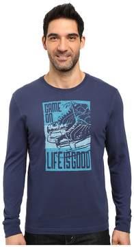 Life is Good Game On Skates Long Sleeve Crusher Tee Men's Long Sleeve Pullover