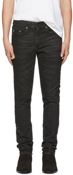 Saint Laurent Black Star Low-Waisted Skinny Jeans