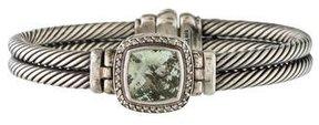 David Yurman Prasiolite & Diamond Albion Cable Bracelet